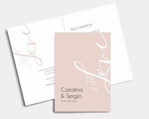 Just - Invitación de boda - Tarjeta plegable (vertical)