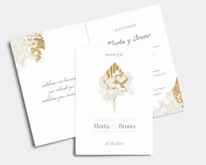 Ivory Luna - Invitación de boda - Tarjeta plegable (vertical)