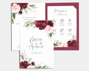 Beloved Floral - Invitación de boda con inserto