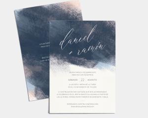 Modern Brushstroke - Invitación de boda (vertical)