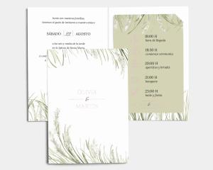 Erba della Pampas - Invitación de boda con inserto